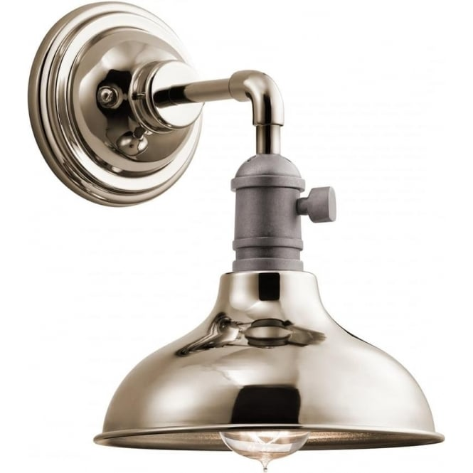 Kichler Cobson Single Mini Pendant/Wall Light Polished Nickel