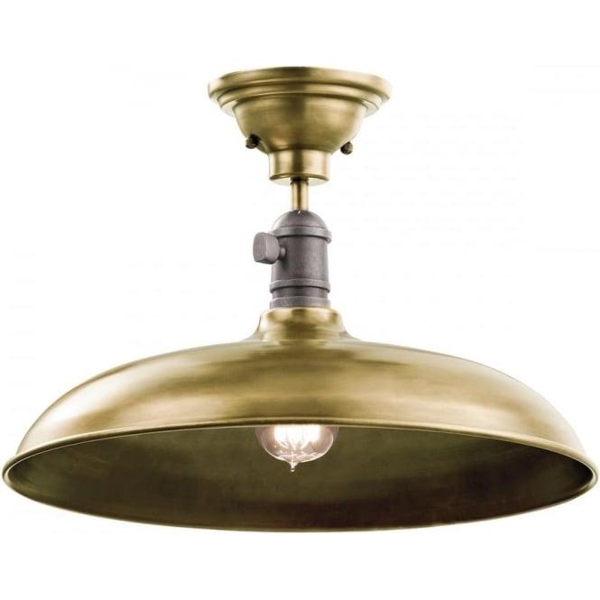 Kichler Cobson Single Pendant/Semi Flush (convertible) Natural Brass