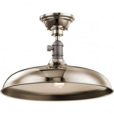 Cobson Single Pendant/Semi Flush (convertible) Polished Nickel