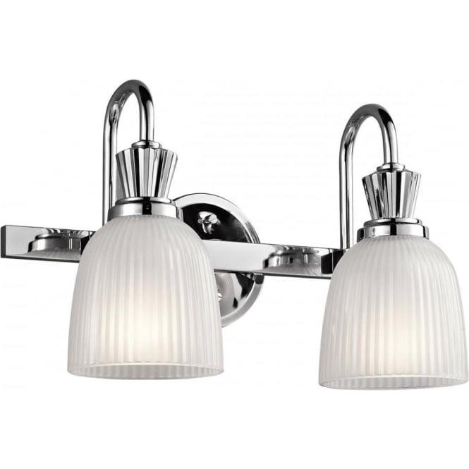 Kichler Cora 2 Light Bathroom LED Wall Light  Polished Chrome