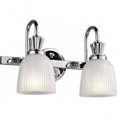 Cora 2 Light Bathroom LED Wall Light  Polished Chrome