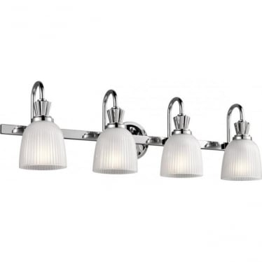 Cora 4 Light Bathroom LED Wall Light  Polished Chrome