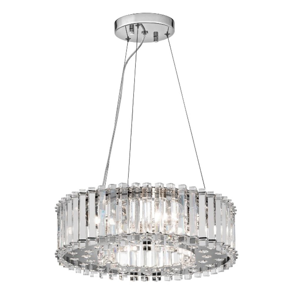 Kichler Crystal Skye 6 Light Bathroom LED Pendant IP44 ...
