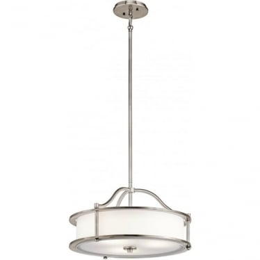 Emory 3 Light Pendant/Semi Flush Classic Pewter