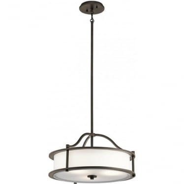 Emory 3 Light Pendant/Semi Flush Olde Bronze