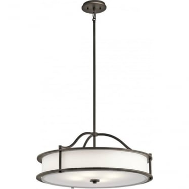 Emory 4 Light Chandelier/Semi Flush Olde Bronze