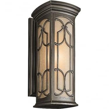 Franceasi large wall lantern - Bronze