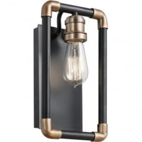 Imahn Single Wall Light Black and Natural Brass