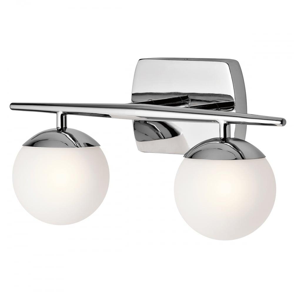 Kichler Kichler Jasper 2 Light Bathroom LED Wall Light IP44 Polished ...