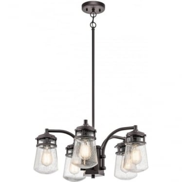 Lyndon Outdoor Chandelier 5 Light Architectural Bronze