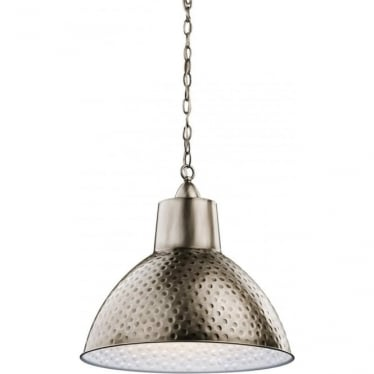 Missoula Single Pendant Antique Pewter - Medium