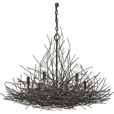 Organique 6 Light Chandelier Olde Bronze