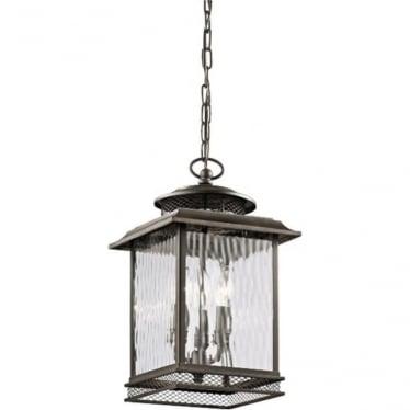 Pettiford Large Chain lantern - Olde Bronze