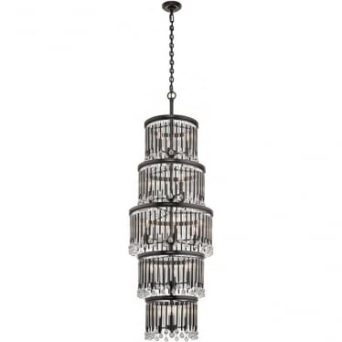 Piper 18 Light Chandelier Espresso