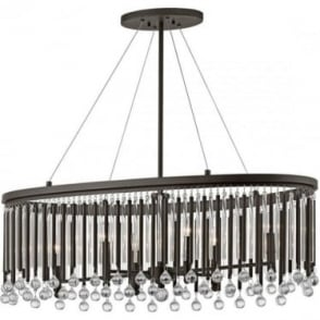 Piper 6 Light Oval Chandelier/Pendant Espresso