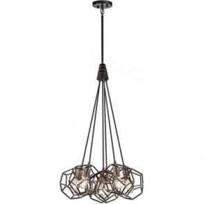 Rocklyn 6 Light Chandelier Raw Steel