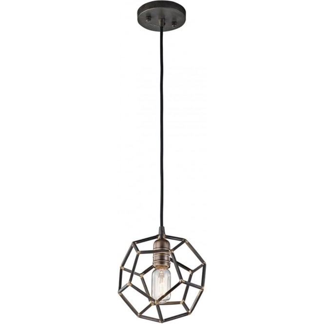 Kichler Rocklyn Mini Pendant Raw Steel