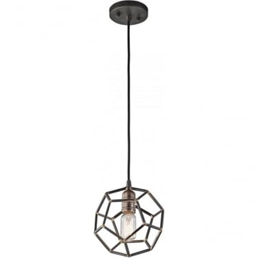 Rocklyn Mini Pendant Raw Steel
