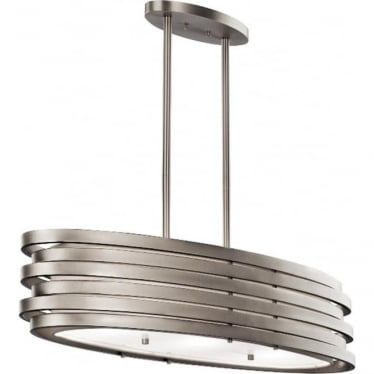 Roswell Oval Island Pendant Brushed Nickel