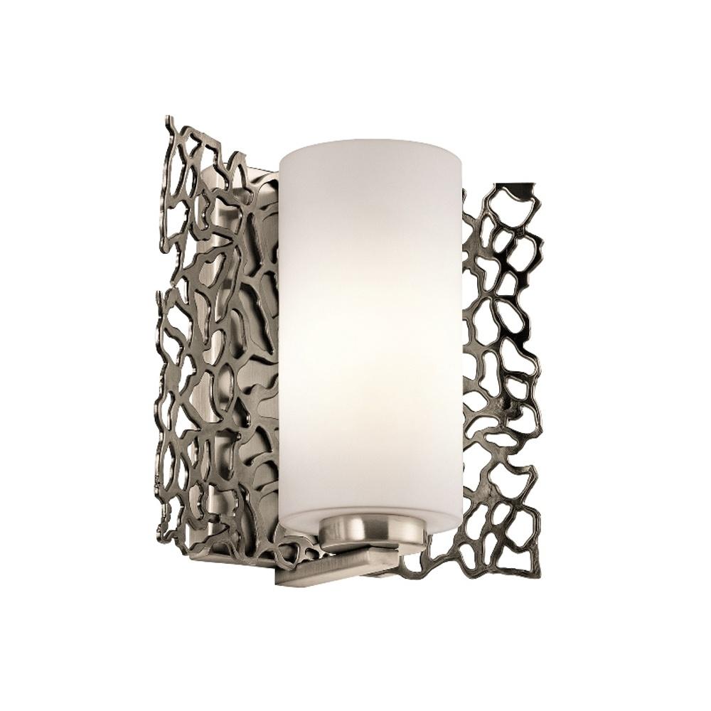 Kichler Kichler Silver Coral Wall Light Classic Pewter Interior