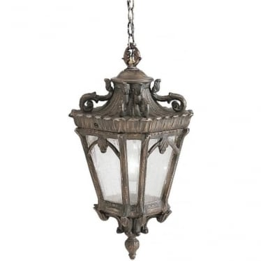 Tournai extra large chain lantern - Bronze