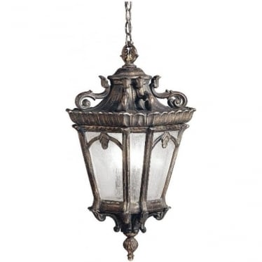Tournai grand extra large chain lantern - Bronze