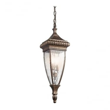 Venetian 8 chain lantern - Bronze