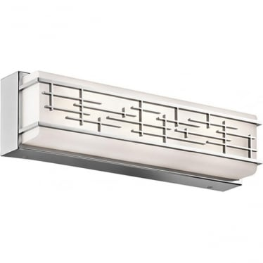 Zolon Large Linear Bathroom LED LED fitting IP44 Polished Chrome
