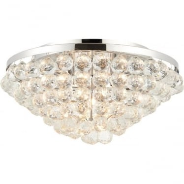 Kiera 4 light flush fitting - Chrome