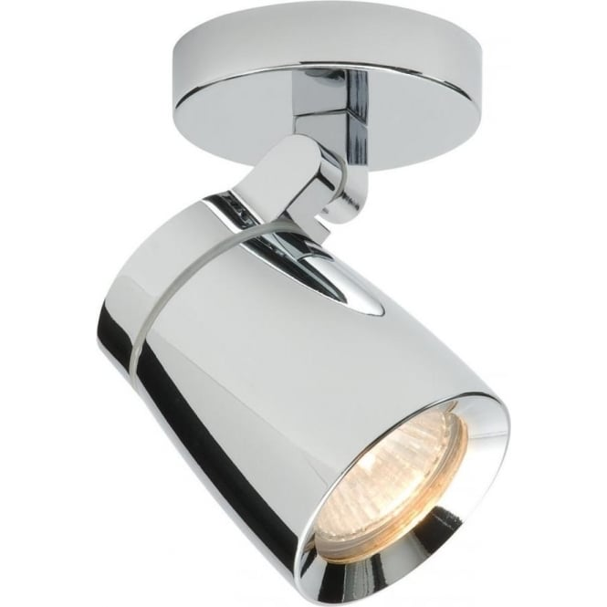 Endon Lighting Knight Single Light IP44 - Chrome Plate & Clear Glass
