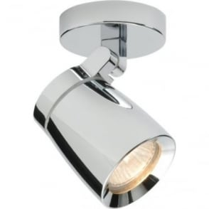 Knight Single Light IP44 - Chrome Plate & Clear Glass