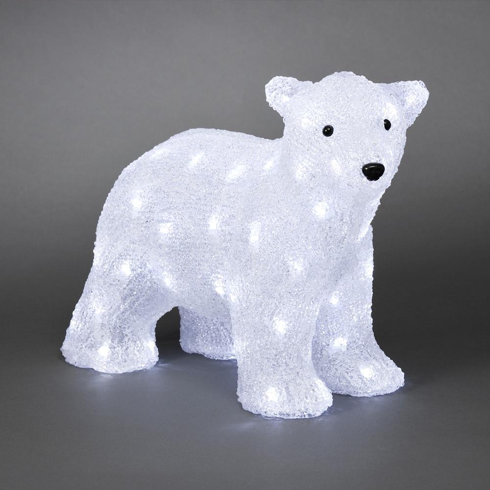 Konstsmide garden lighting acrylic standing polar bear 64 white acrylic standing polar bear 64 white led lights mozeypictures Image collections