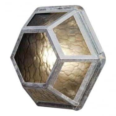 Castor wall light - galvanised 533-320