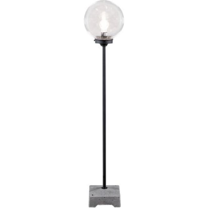 Konstsmide Garden Lighting Lodi lounge lantern clear globe - black 455-750