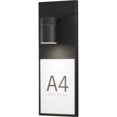 Modena large wall lamp - info light - black 7675-750