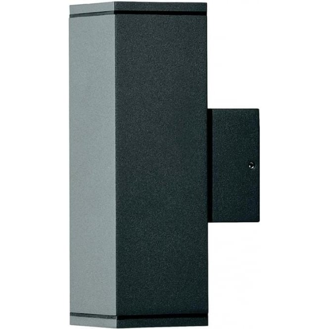 Konstsmide Garden Lighting Monza wall lamp double square - black 7907-370