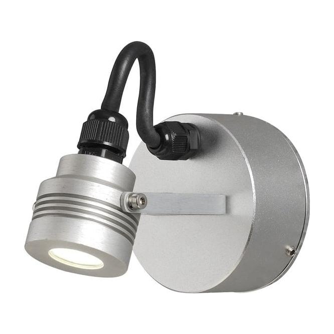 Konstsmide Garden Lighting Monza wall lamp high power LED - aluminium 7922-310