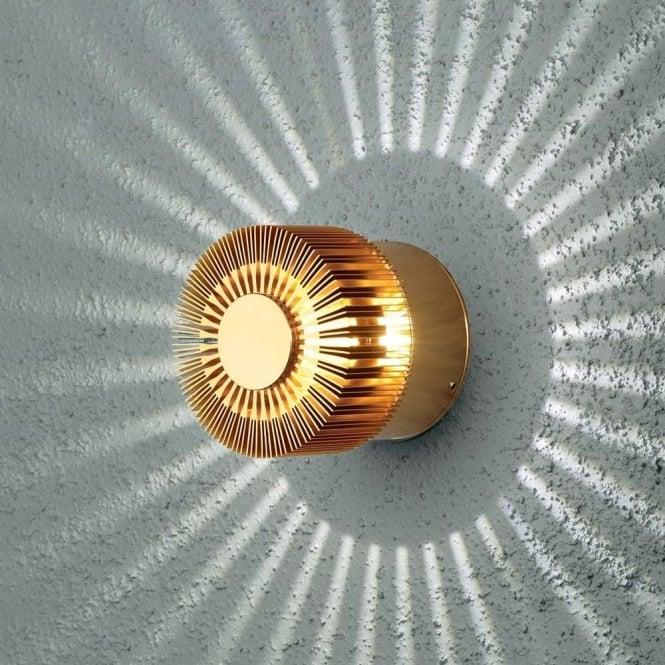 Konstsmide Garden Lighting Monza wall lamp high power LED - Anodized brass 7900-800