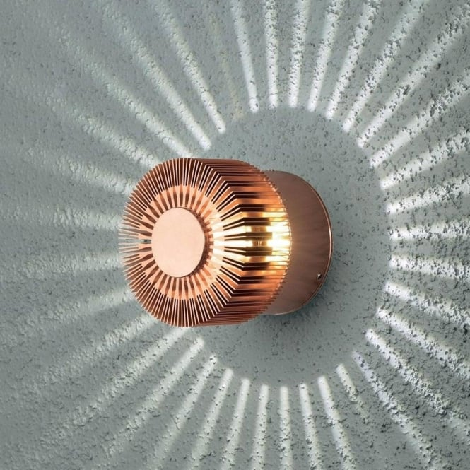 Konstsmide Garden Lighting Monza wall lamp high power LED - anodized copper 7900-900