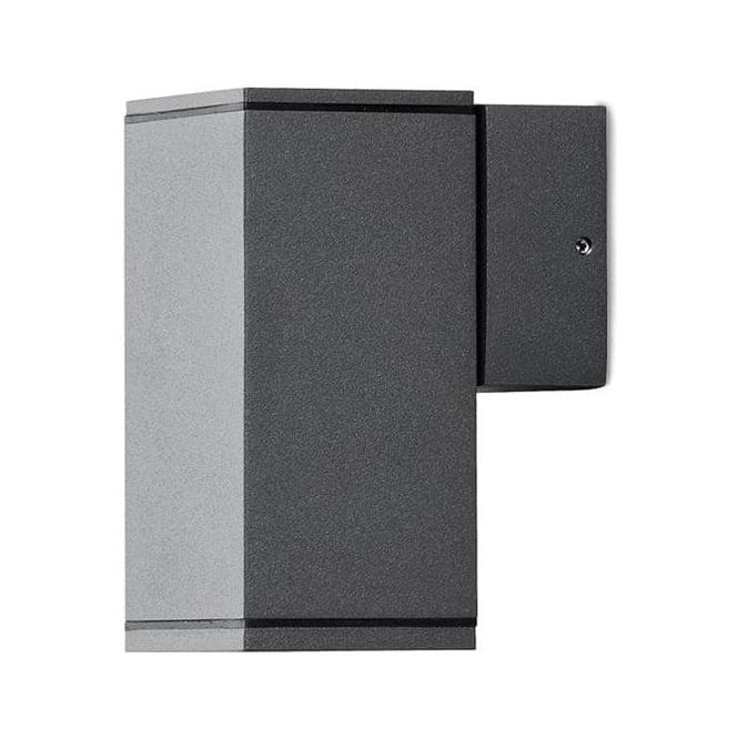 Konstsmide Garden Lighting Monza wall lamp single square - black 7908-370