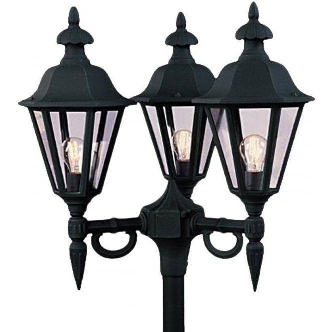 Konstsmide Garden Lighting Pallas triple head - black 528-750