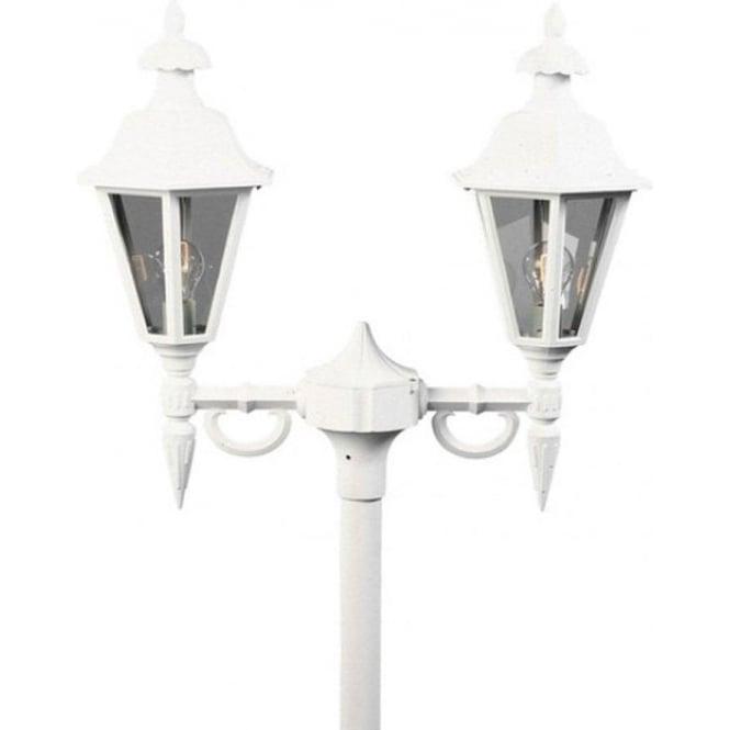 Konstsmide Garden Lighting Pallas twin head - white 527-250