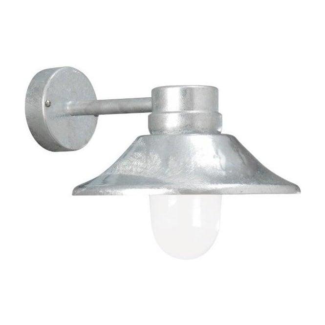 Konstsmide Garden Lighting Vega wall light LED - galvanised 412-320