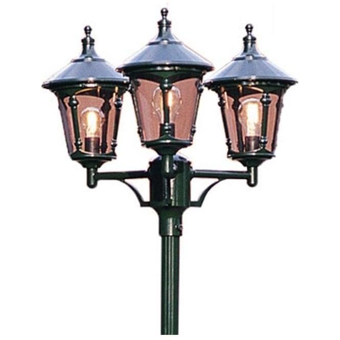 Konstsmide Garden Lighting Virgo triple head - green 573-600