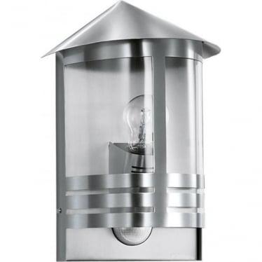 L 170 S Wall lantern with PIR - silver