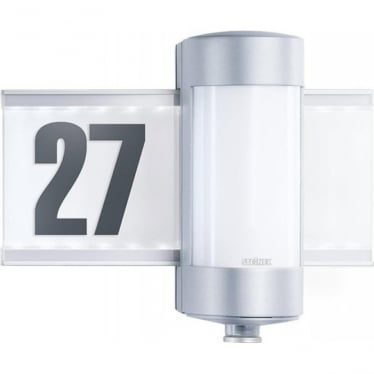 L 270 S  Wall light with house number & PIR - silver
