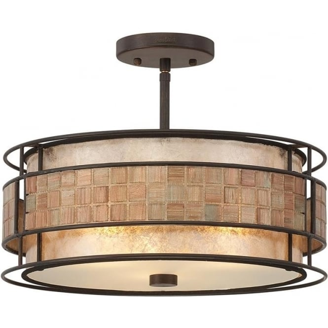Quoizel Laguna Semi-Flush Mount Fitting Renaissance Copper