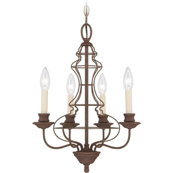 Quoizel Laila 4 Light Chandelier Rustic Antique Bronze