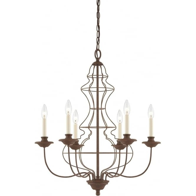 Quoizel Laila 6 Light Chandelier Rustic Antique Bronze