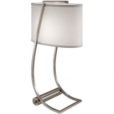 Lex Brushed Steel Desk Lamp